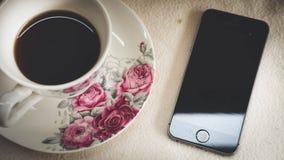 A manhã é perfeita para seu café favorito, imagens de stock royalty free
