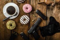 Manhã americana do agente da polícia Imagem de Stock