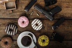 Manhã americana do agente da polícia Fotografia de Stock