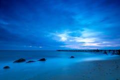 Manhã azul Fotos de Stock Royalty Free