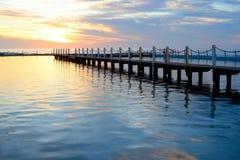 Manhã azul Foto de Stock Royalty Free