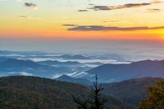 Manhã azul de Ridge Fotografia de Stock Royalty Free