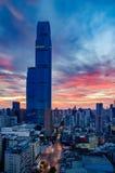 Manhã bonita na cidade de Changsha China 2017 foto de stock