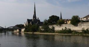Manhã bonita pelo rio grande em Cambridge 4K filme