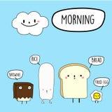 Manhã Breakfast-01 ilustração do vetor