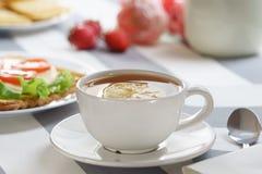 Manhã, café da manhã caseiro imagens de stock royalty free