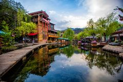 A manhã da cidade antiga de Shuhe Fotografia de Stock