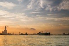 Manhã da cidade de Kaohsiung foto de stock royalty free