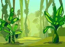 Manhã da ilustração na selva Fotografia de Stock Royalty Free