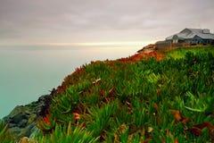 Manhã da névoa de San Francisco Bay fotografia de stock