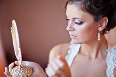 A manhã da noiva Fotografia de Stock Royalty Free