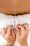 Manhã da noiva, composição, noiva bonita Foto de Stock