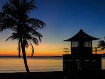 Manhã da praia Imagens de Stock