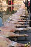A manhã de Hongcun: carne preservada Fotografia de Stock Royalty Free