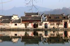 A manhã de Hongcun: velho Imagem de Stock