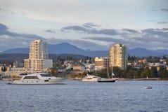 Manhã de Nanaimo, opinião da água, Columbia Britânica Fotografia de Stock