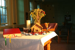 Manhã de Natal na capela 4 imagem de stock