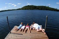 Manhã de relaxamento na cabine Imagem de Stock Royalty Free