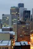 Manhã de segunda-feira quieta em Montreal foto de stock