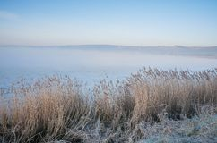 Manhã de Severn Estuary do rio Fotografia de Stock