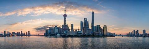 Manhã de Shanghai Imagens de Stock Royalty Free