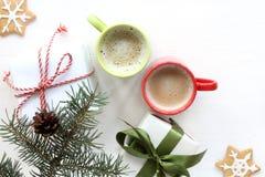 A manhã do ano novo começa com as surpresas Imagens de Stock Royalty Free