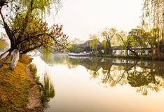 Manhã do canal de Yangzhou Imagem de Stock Royalty Free