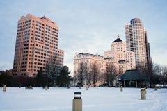 Manhã do inverno em Milwaukee Fotografia de Stock