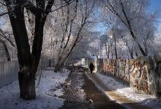 Manhã do inverno moscow Rússia imagem de stock royalty free