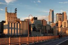 Manhã do inverno na ponte Fotografia de Stock Royalty Free