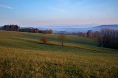 Manhã do outono em Pelikovice, República Checa Imagem de Stock Royalty Free