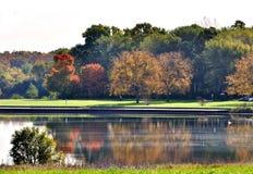 Manhã do outono no parque Foto de Stock