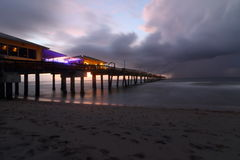 Manhã do temporal da praia de Dania Foto de Stock
