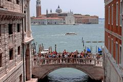Manhã do verão em Veneza fotografia de stock