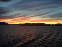 Manhã em Alaska imagens de stock