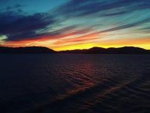 Manhã em Alaska imagem de stock