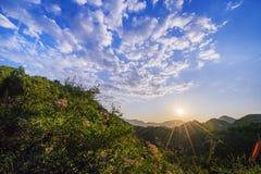Manhã em Badaling imagem de stock royalty free