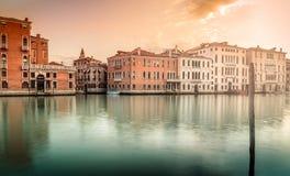 Manhã em Grand Canal em Veneza Fotografia de Stock