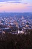 Manhã em Lviv Imagem de Stock Royalty Free