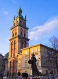 Manhã em Lviv 15 Fotos de Stock Royalty Free