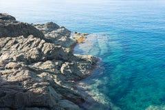Manhã ensolarada na costa Foto de Stock