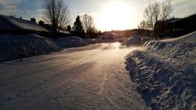 Manhã fria do inverno Imagens de Stock