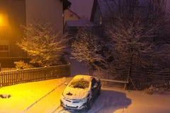 Manhã gelado do inverno Fotografia de Stock