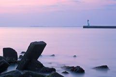 Manhã litoral crepuscular Imagem de Stock Royalty Free