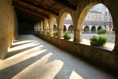 Manhã na abadia fotografia de stock royalty free