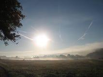 Manhã na névoa Fotografia de Stock Royalty Free