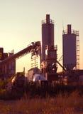 Manhã na planta do cimento Fotografia de Stock