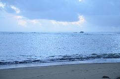 Manhã na praia Fotografia de Stock