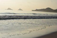 Manhã na praia de Kailua, Havaí Imagens de Stock