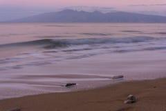 Manhã na praia de Maui Foto de Stock